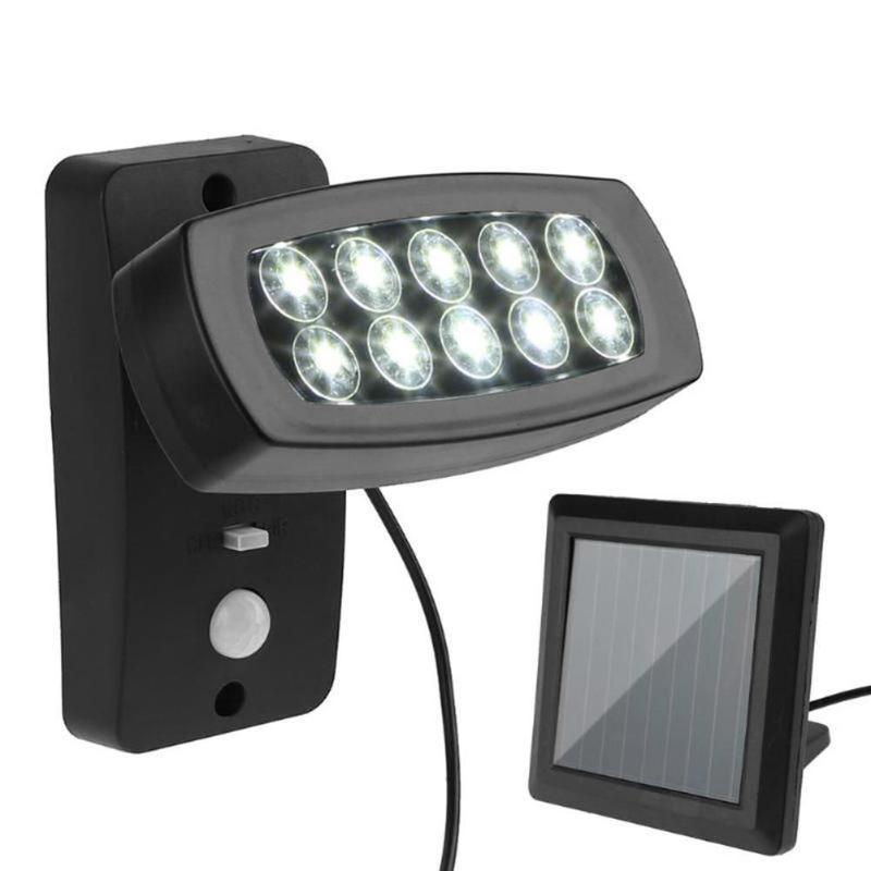 10 LED Wall Solar Light PIR Motion Sensor Solar Lamp Waterproof Outdoor Garden Yard Wall Lamp