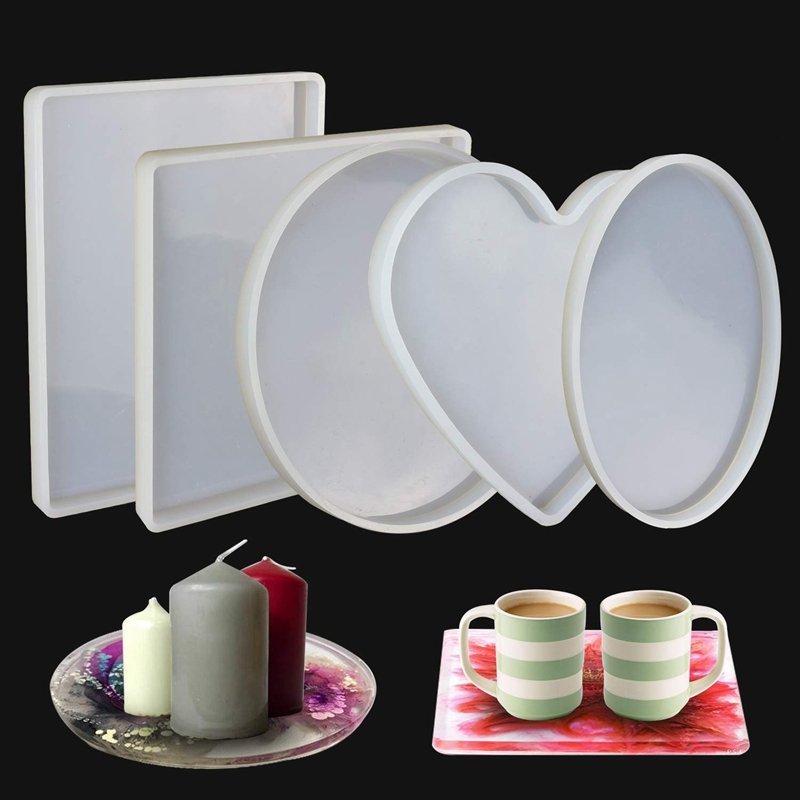 Large Resin Silicone Molds Shiny Epoxy Resin Molds Including Round Square Rectangle Heart Oval Shape Casting Molds Diy Si in Jewelry Tools Equipments from Jewelry Accessories