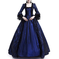 18th Century Medieval Gothic dress Renaissance LACE Dress Masquerade Costume Ball Gown vestido gotico