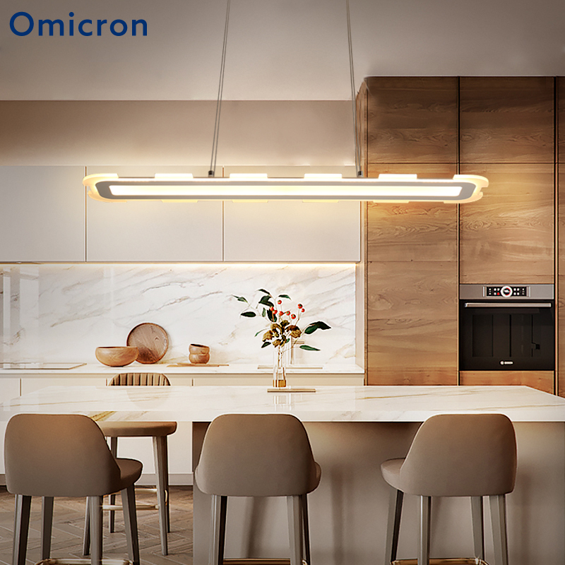 Omicron Modern Led Chandeliers Simple Iron White Creative Home Decorlights For Living Room Bedroom Lighting