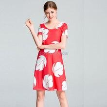 2e4ef9c9f8 Kobiety sukienka w stylu hawajskim linia kwiatowy Print sukienki na co  dzień Plus rozmiar sukienka na