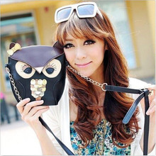 купить Women Cross Body Purse Bags Owl Print Satchel Shoulder Bag Handbag Messenger Bag дешево