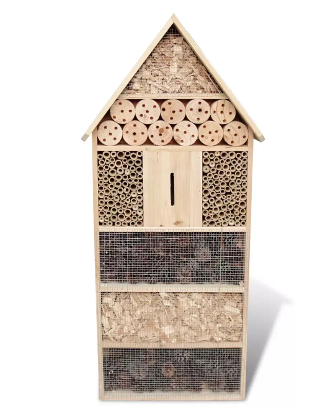 VidaXL Large Insect Hotel XXL 50 X 15 X 100 Cm Solid Wood Insect House Shaded Resort Hibernation Area For Butterflies Insects