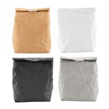 Bag Lunch-Box Kraft-Paper Zipper Insulated Waterproof Outdoor Kids Portable Women Oxford