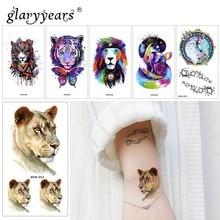 Glaryyears 1 шт., Временные татуировки, наклейки, горячие и красочные поддельные татуировки, животные, флеш-тату, водонепроницаемые, маленькие, боди-арт, для мужчин и женщин, XKM