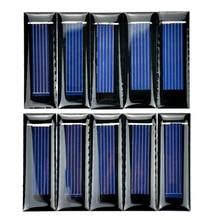 10Pcs Mini Solar Panel New 0.5V 100mA Solar Cells Photovoltaic panels Module Sun Power battery charger DIY 53*18*2.5mm-Hot