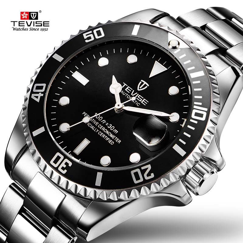 2018 Tevise Brand Men Mechanical Watch Automatic Role Date Fashione luxury Submariner Clock Male Reloj Hombre Relogio Masculino ailang mens watches top brand luxury men automatic mechanical watch fashione clock male reloj hombre relogio masculino 2017