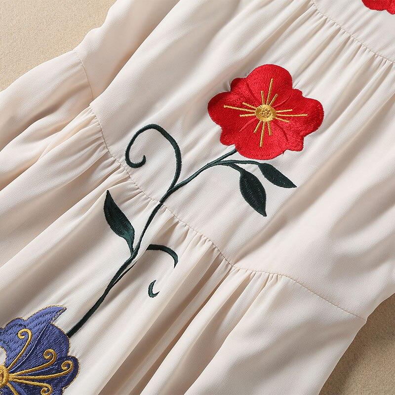 Femmes Robe À Été Manches Courtes Haute Piste Élégantes Parti Broderie De Qualité Robes O Np0106 Printemps cou Dames 2019 F13uK5TlJc
