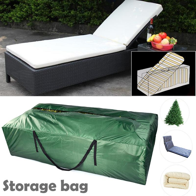 Garden Furniture Cushion Storage Bag Waterproof Lightweight Carry Handbag for Outdoor Garden Cushion Pad Green
