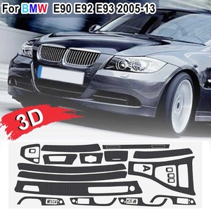 Image 4 - 15pcs Only RHD 5D Glossy/ 3D Matte Carbon Fiber Style Sticker Vinyl Decal Trim For BMW E90 E92 E93 2005 2013