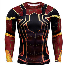 Avengers Raglan Sleeve Spiderman 3D Printed T shirts Men Compression Shirts  Tops For Male Cosplay Costume Clothing