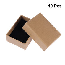 10PCS Gift Wrap Storage Jewelry Boxes Kraft Paper Display Square Thick Cardboard Wedding Party Gift For Holiday Decor(China)