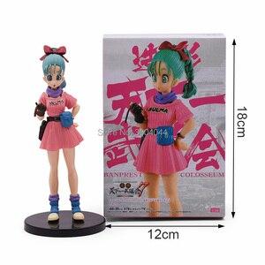 Image 4 - Figurine Dragon Ball Z 3 styles, paillettes et Glamours, déjeuner, Buruma Bulma, en PVC à collectionner, jouet pour enfant, cadeau