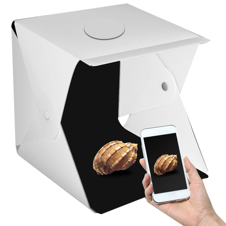 17 zoll Tragbare Fotografie Foto Studio, verbesserte Version Led Licht Tragbare Mini Foto Licht Box Studio Mit 2Pcs Led Lig