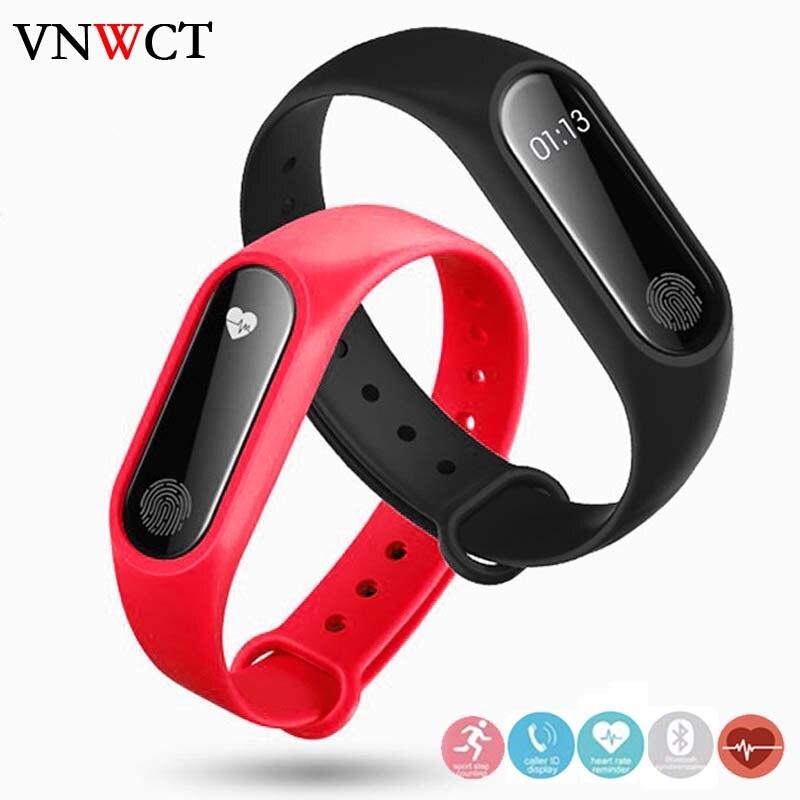 Merk Mannen & #39 s Waterdichte IP67 M2 Horloge + Horlogebanden Fitness Hartslagmeter Bloeddruk Stappenteller Bluetooth smart Wristban