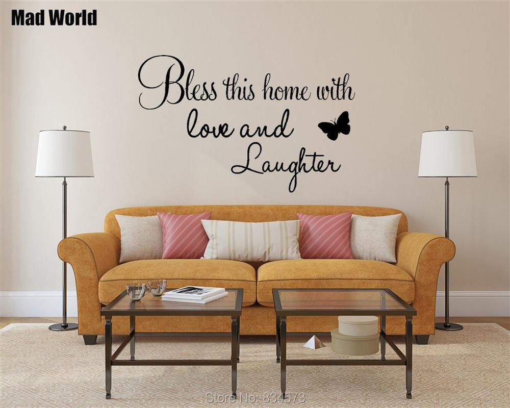 Bless Love Laughter Bible God Love Family Quote Wall Art Stickers Wall Decals Home Diy Decoration Removable Decor Wall Stickers Wall Stickers Aliexpress