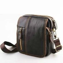 все цены на Men 100% Genuine Cowhide natural Leather Men Messenger Bags Male Casual Commercial Briefcase Shoulder Crossbody hand Bag handbag онлайн