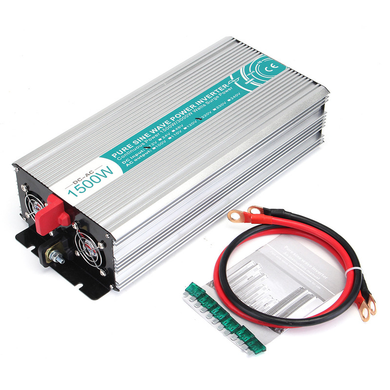Image 5 - Inverter Max 2500 Watt 1500W 12 V to AC 220 110 Volt LCD Digital 1 USB Pure Sine Wave Converter Car Charge Converter Transformer-in Car Inverters from Automobiles & Motorcycles