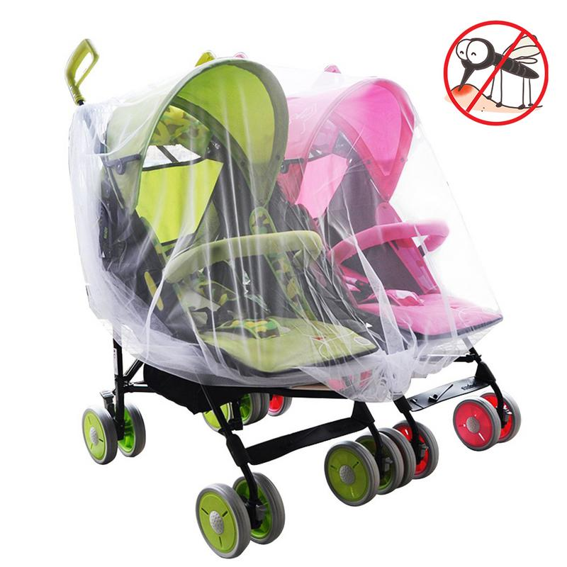 Twin Baby Stroller Mosquito Net Crib Cradle Breathable Mosquito Net good