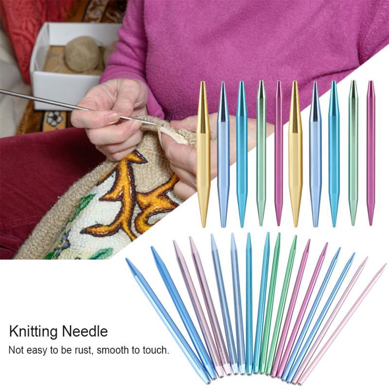 13Pcs Interchangeable Aluminum Circular Knitting Bamboo Needle Kit 2.75mm-10mm