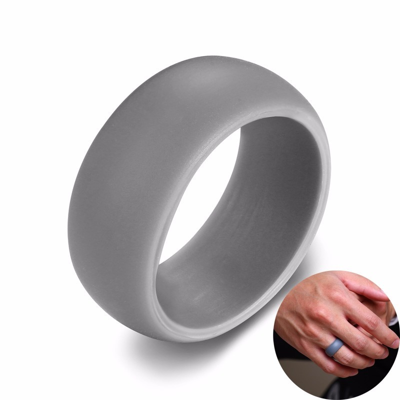 Silicone Wedding Ring.Us 1 3 45 Off Men S Dome Silicone Wedding Ring Silica Gel Bands In Gray 9mm In Wedding Bands From Jewelry Accessories On Aliexpress Com Alibaba