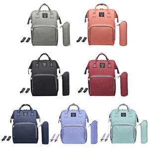 Image 2 - حقيبة حفاضات من LEQUEEN مزودة بواجهة USB ذات سعة كبيرة مضادة للماء حقيبة ظهر للأمهات مناسبة للسفر والمتاجر والحفاظات منظمة للحفاضات