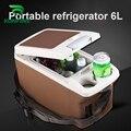 Автомобильный холодильник KUNFINE  12 В  постоянный ток  6л  многофункциональный холодильник  переносной холодильник с морозильной камерой  кори...