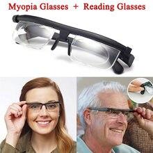 8b182740c92e CANCHANGE Dial vision Adjustable Reading Glasses Myopia Eyeglasses -6D 3D  Variable