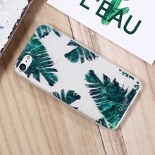 CASEIER Tropical Leaves Pattern Case For iPhone X 8 7 6 6S Plus Soft Silicone Back Case For iPhone 5 5S SE Cover Fundas Capa стоимость