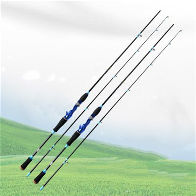 M Power 2 Sec 1.8m 2.1M Carbon Spinning Fishing Rod 8-25g Lure Weight 5-14lb Line Weight Spinning Casting Lure Fishing Rods