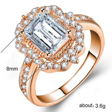Womans ring jewelry rose gold Princess Zircon Silver Rings Costume Couple stainless steel King of rings ringenB2470