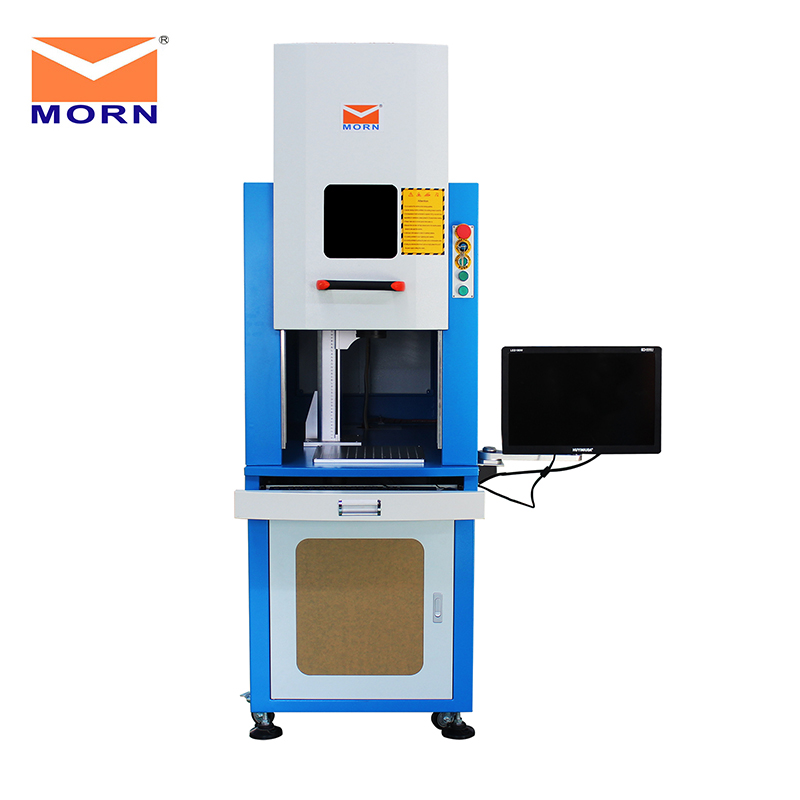 MORN Mini Compact Enclosed Laser Marking Machine CNC Aluminum/Acrylic/Stainless Steel/Carton Steel