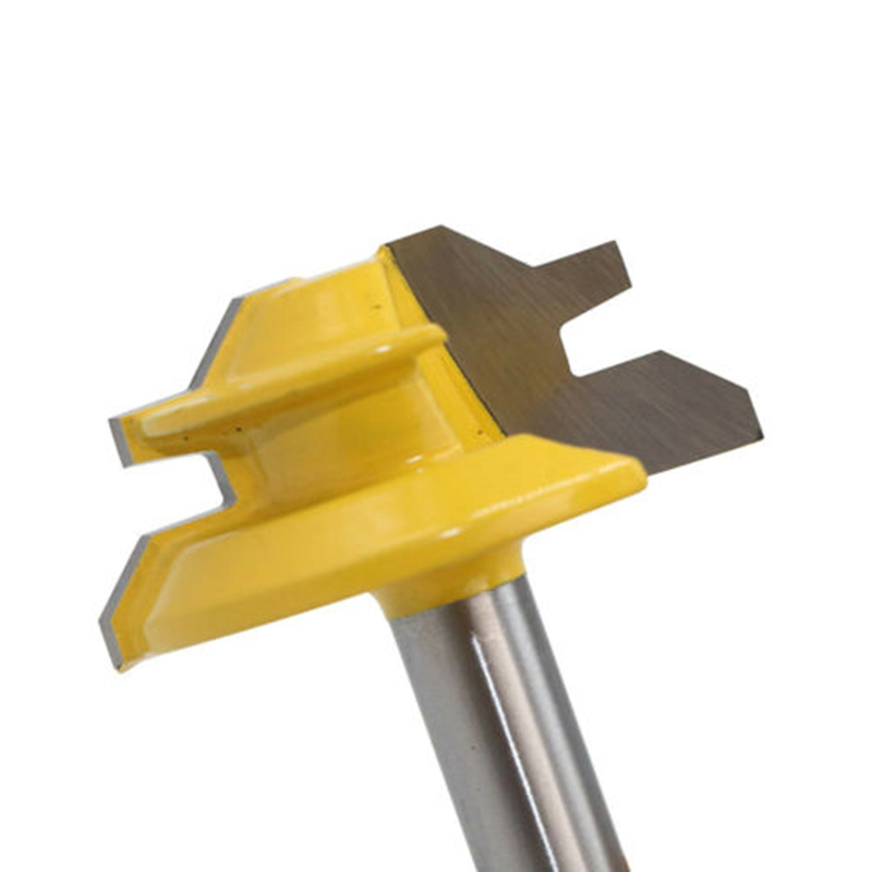 45 Degree 8mm Shank Lock Miter Router Bit Trimmer Milling Joint Tenon Cutter HQ