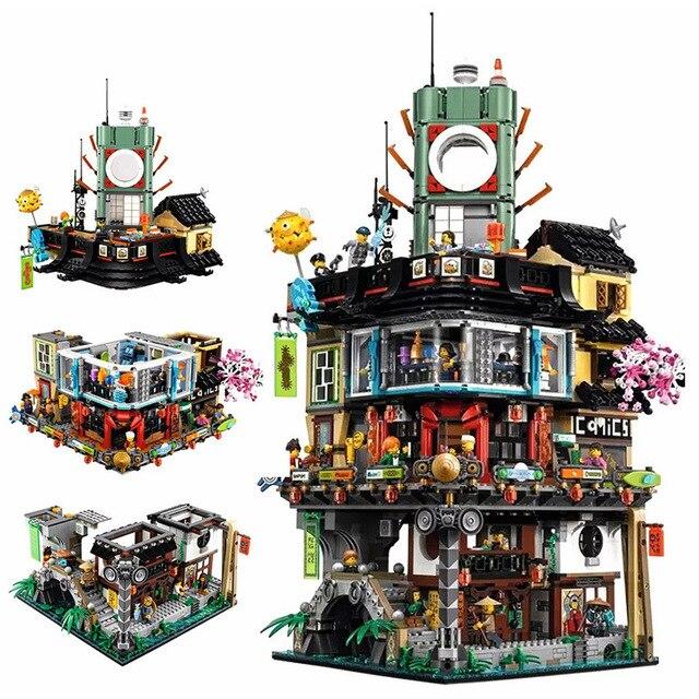 Город ниндзя шт. 4953 мастера Spinjitzu модель здания Совместимость Legoinglys 70620 06066 Конструкторы игрушечные лошадки для детей Подарки