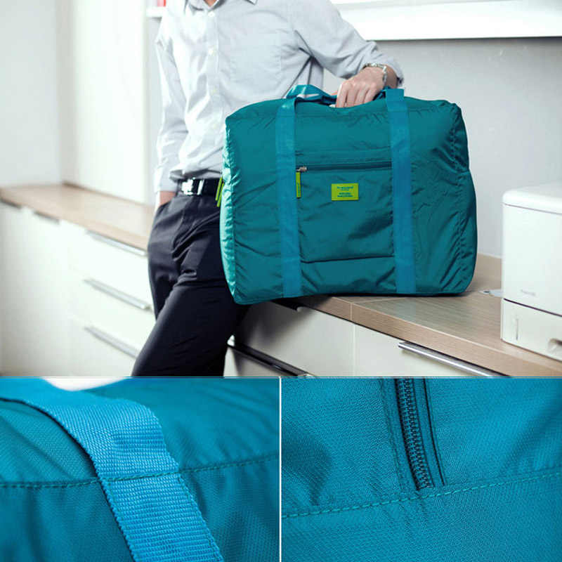 Nylon Bagagem Tote Embalagem 1 Pcs Bolsa de Armazenamento De Roupas De Armazenamento Multiuso de Alta Capacidade Portátil Dobrável Saco de Viagem À Prova D' Água