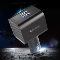 Mini QC3.0 2 USB Port Car Charger Negative Ion Ionizer Air Purifier Humidifier