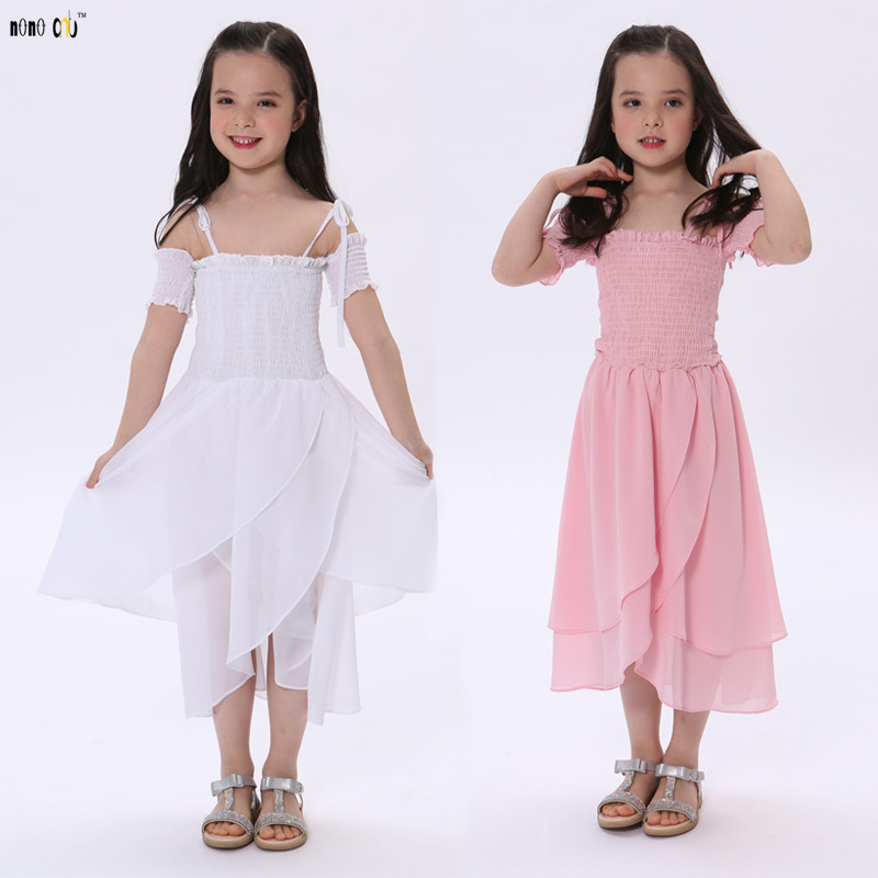 US $10.45 40% OFF|Summer Children Dress Girls Clothes Off Shoulder Sling Irregular Kids Dresses For Girl Princess Child Clothing 3 4 5 6 7 8 Years|Dresses| |  - AliExpress