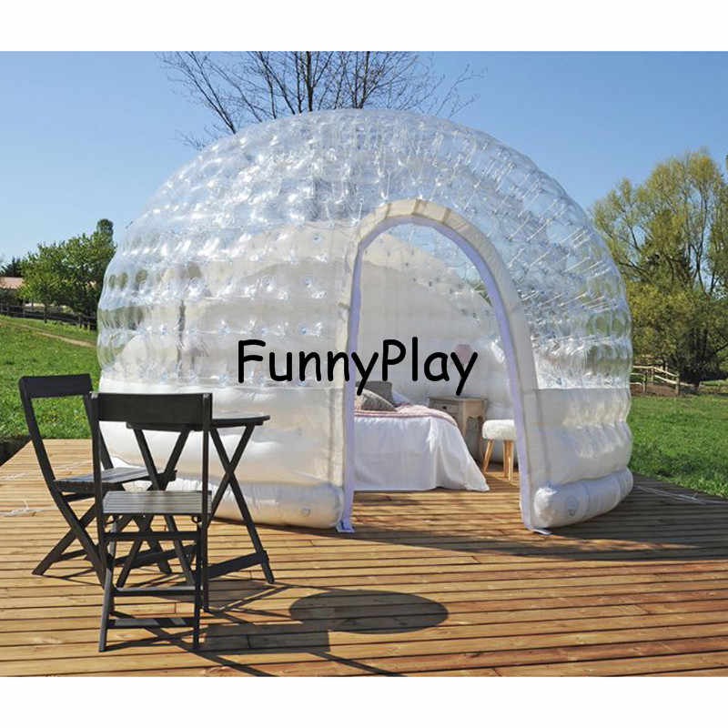 low priced 9a09c b5a46 giant Family Camping Backyard hotel exhibition,luxury air tight inflatable  house tents,clear camping bubble tent ship by sea