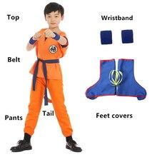 Dragon Ball Cosplay Z Son Goku Costume JP Anime Kakarotto Suit Halloween For Kids Clothing