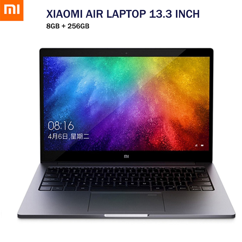 Xiaomi Air Laptop 13.3 Inch Windows 10 Home Chinese Version Intel Core I5-8250U Quad Core 8GB 256GB Fingerprint HDMI Type-C 2018