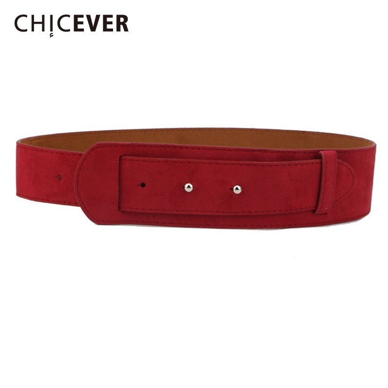 CHICEVER PU Leather Wide Belts Female Adjustable Waist Black Fashion Vintage Belts For Women Dress Accessories Spring New 2019