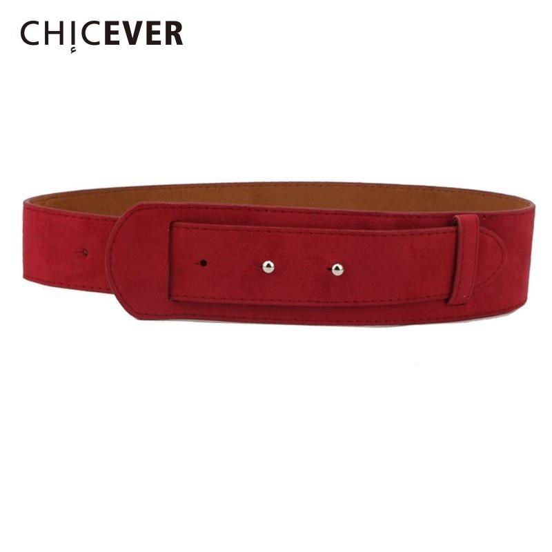 CHICEVER PU Leather Wide Belts Female Adjustable Waist Black Fashion Vintage Belts For Women Dress Accessories Spring New 2020