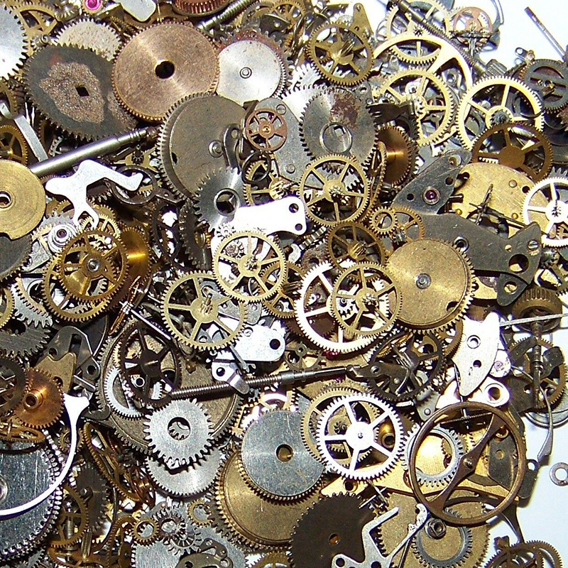 10g/bag Steampunk Parts DIY Bracelet Earrings Handmade Alloy Wrist Watch Old Parts Gears Wheels Steam Punk Lots