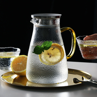 1500ml Glass Water Jug With Stainless Steel Filter for Teapot Borosilicat Glass Water Kettle Heat Resistance Juice Container Pot