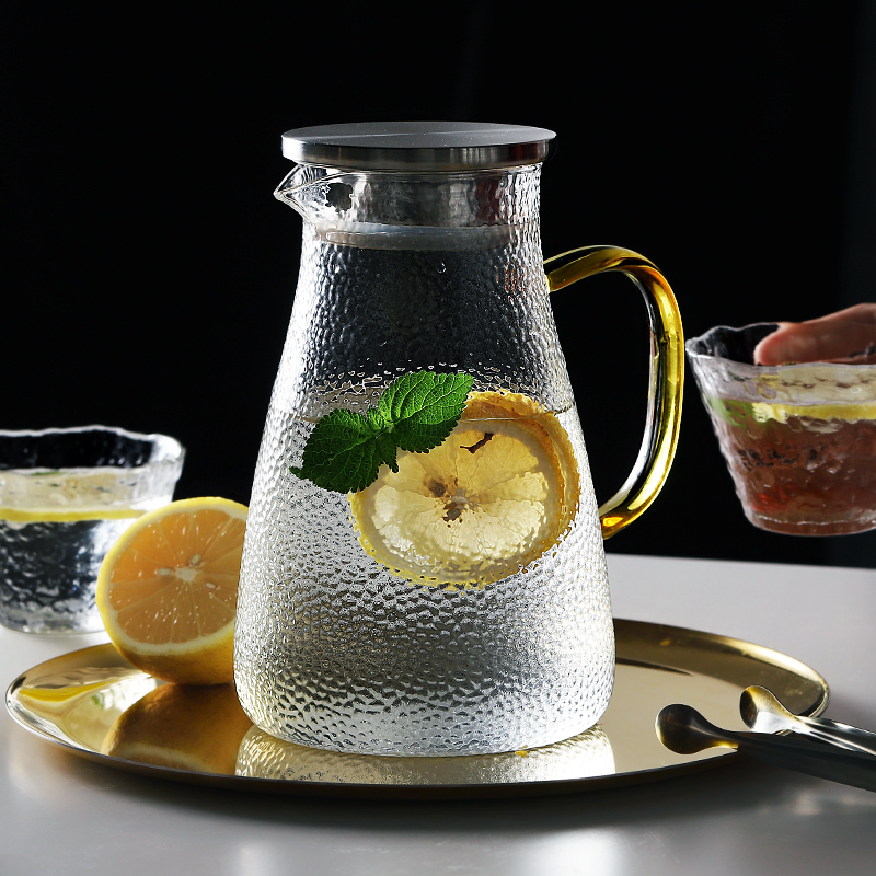 Water-Jug Good-Jug Glass Stainless-Steel Hot/cold-Water-Pitcher with Handle for Homemade-Juice title=
