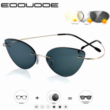 Cat Eye Transition Sunglasses Photochromic Reading Glasses Women Hyperopia Presbyopia with diopters Outdoor