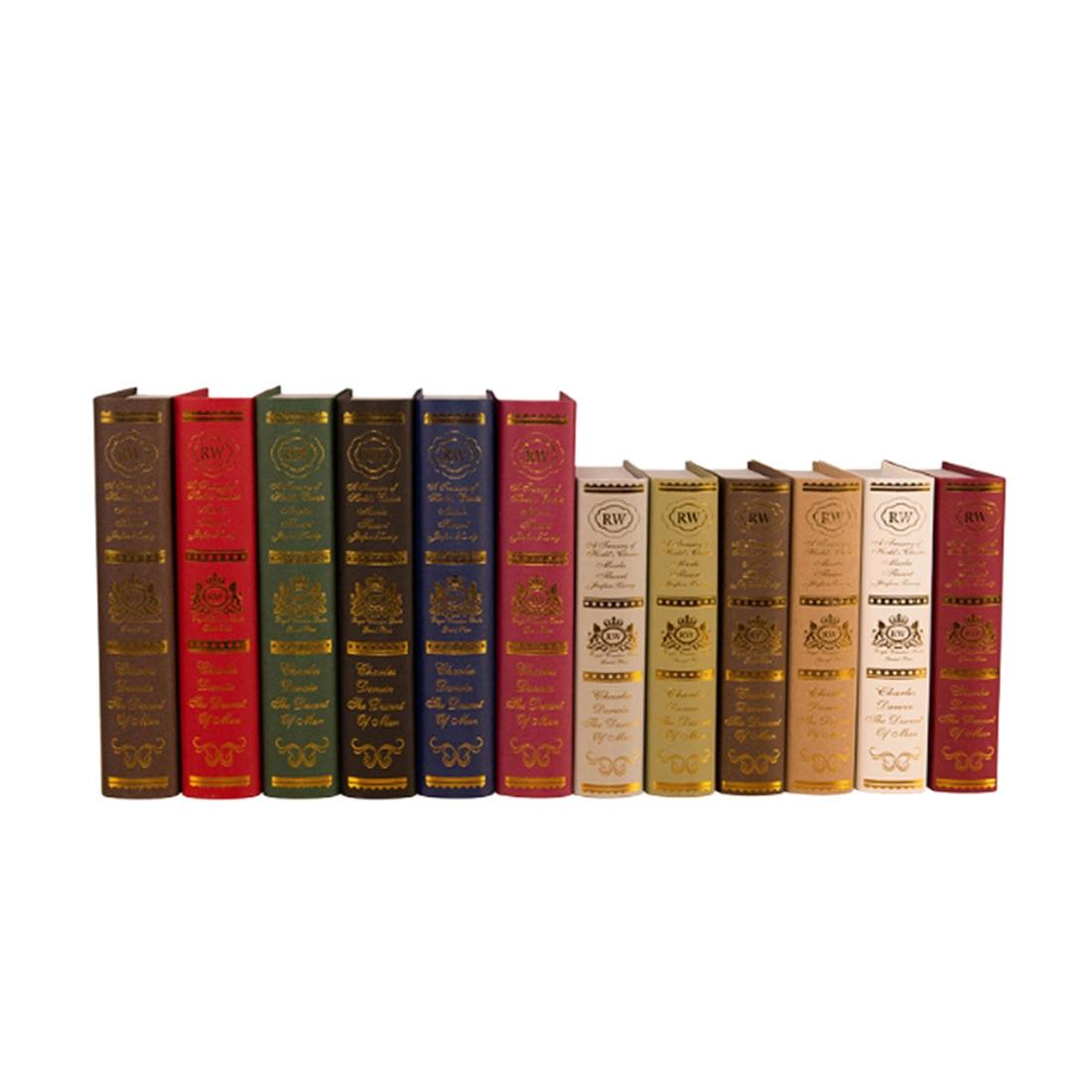 1 Pc Europese Stijl Huis Decoratieve Display Props Boek Simulatie Boek Boekenkast Nep Boeken Engels Moderne Minimalistische Decoratie Fijn Vakmanschap