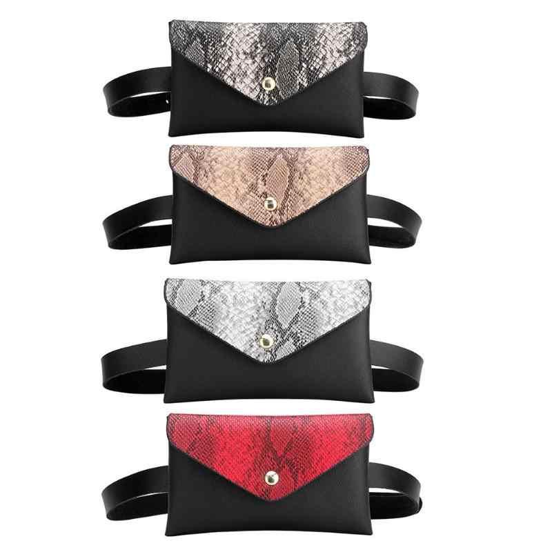 Фото 2019 поясная сумка Женская кожаная модная женская змеиный принт PU на плечо грудь