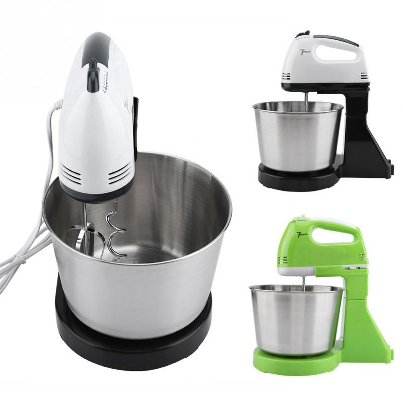 230v 7 Speed Automatic Whisk Hand Food Mixer Electric Stand Mixers Handheld Flour Bread Egg Beater 230v 7 Speed Automatic Whisk Hand Food Mixer Electric Stand Mixers Handheld Flour Bread Egg Beater Blenders with Bowl EU Plug