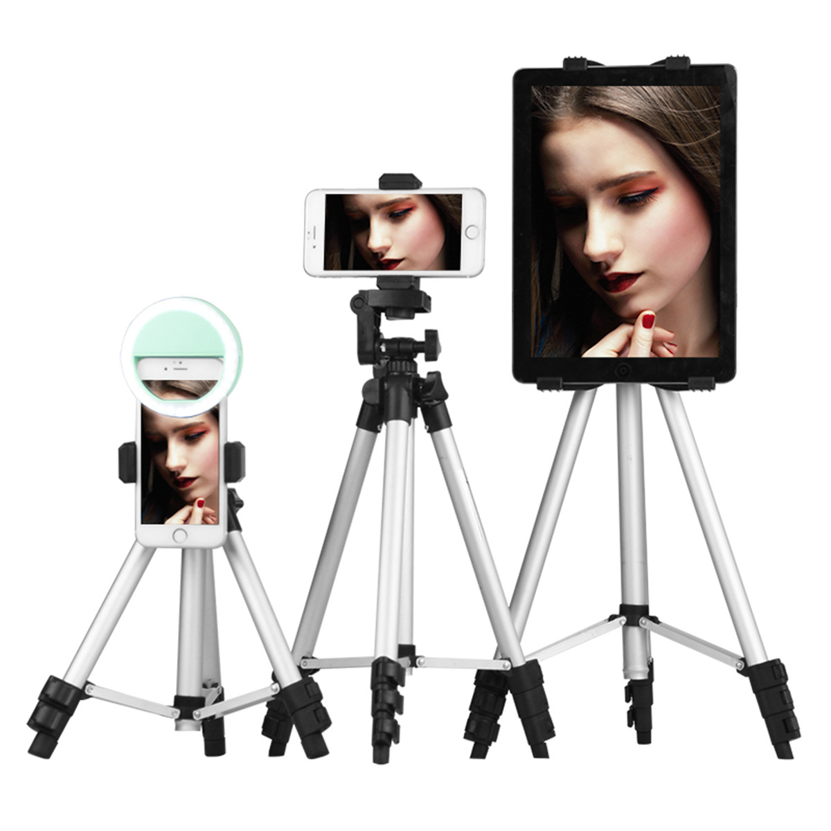 Extendable 36-100cm Universal Adjustable Tripod Stand Mount Holder Clip Camera Phone Holder Bracket For Cell Phone Camera 3